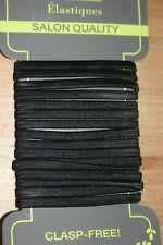 15X  Women Black Rope Elastic Hair Ties 4mm Thick Hairbands Hair Band