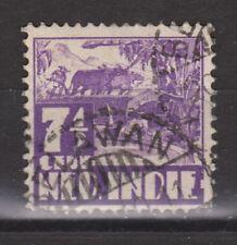 Nederlands Indie 252 CANCEL BELAWAN 1938 Karbouw Netherlands Indies watermark