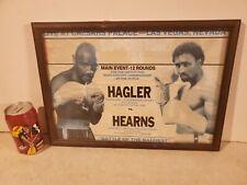 TOMMY HEARNS vs MARVELOUS MARVIN HAGLER SMALL FIGHT POSTER VINTAGE ORIGENAL