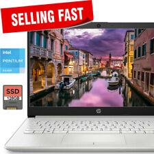 HP 14inch SLIM Laptop Intel Pentium N5030 3.1GHz 4GB Ram 128GB SSD Drive RJ45 BT
