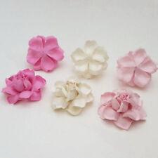 Multi-Colour Paper Scrapbooking Flower Embellishments