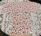 2 Genuine Vintage American Floral Cotton Feedsack Fabrics-Materials c1940s