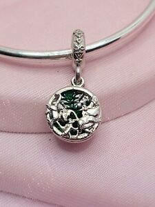 Silver Green Lion King Simba Charm For European Charm Bracelets & Necklaces