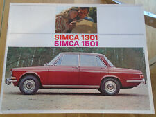 Simca 1301 & 1501 range brochure c1970's Italian text