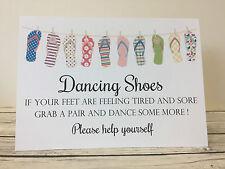 Chic Dancing Feet, Flip Flop Wedding Sign & labels