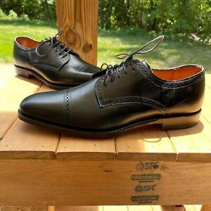 Allen Edmonds Yorktown Cap Toe Derby Shoe 10 D Black