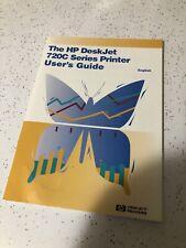 The HP DeskJet 720C Series Printer User's Guide - English used