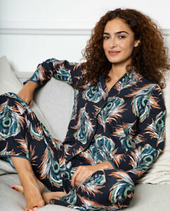 Elena Feather Print Pyjama Set