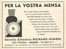 W9888 Ceramiche RICHARD-GINORI - Pubblicità del 1934 - Old advertising