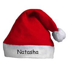 Personalizado Rojo Gorro de Papá Noel Sombrero Navidad con su nombre - GB Envío
