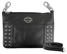 Harley-Davidson Women's Studded Rider Leather Hip Bag w/ Strap RD4960L-BLK