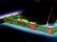 MU N-M00011 - Kaserne Zaunerweiterung 230 mm lang - Spur N - NEU