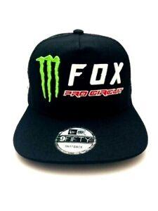Monster Energy Fox Racing Pro Circuit -- Snapback Hat - Adult Men's Cap Hat