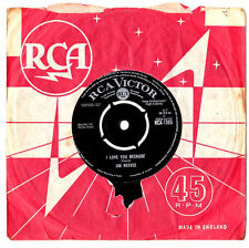 """JIM REEVES.I LOVE YOU BECAUSE / ANNA MARIE.UK ORIG 7"""" & CO/SL.EX-"""