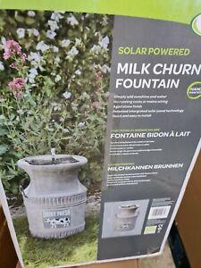 Smart Solar Milk Churn Solar Powered Fountain Garden Water Feature