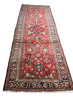"""Old Hand Knotted wool rug maha 1064 3'6""""x10'1"""""""