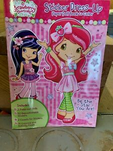 Strawberry shortcake sticker dress up book