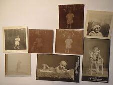 Neuhaldensleben - Rudi Heuer als kleines Kind - Baby - 1914-1916 / 8x Foto