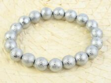 Meteorite Muonionalusta Beads 10mm Bracelet Flexible - 86g #Other2071