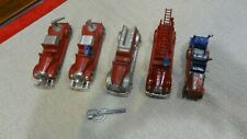 Vintage Tin Fire Truck Toy Lot