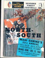 1968 12/25 North vs South All Star Football Game Program Miami Florida