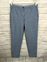 Talbots Girlfriend Chino Tapered Pants - Blue Chambray - Size 2