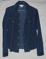 SUSSAN Women's long sleeve jean shirt with beautiful buttons SIZE 10 90's style