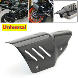 Universal Motorcycle Exhaust Pipe Mid Section Insulation Board Heat Shield Cover
