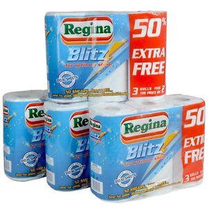 Regina Blitz 12 Rolls Original X Large Strong Multi Purpose Kitchen Roll
