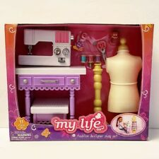 My Life As Fashion Designer Play Set Sewing Machine New 18� Doll Furniture Ag Og