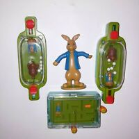 Set of 4 Peter Rabbit McDonalds Toys Games Figures Party Favors Stocking Stuffer