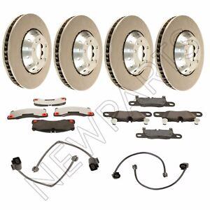 For Porsche Cayenne Turbo GTS Front & Rear Steel Brake Rotors & Pads+Sensors OEM
