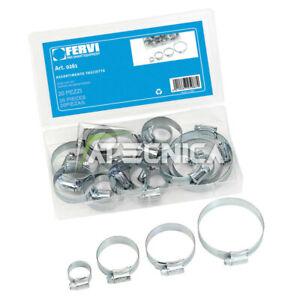 Kit Assortment Clamps Metallic 20pz Fervi 0261 IN Oraganizer Of Plastic