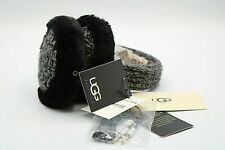 NEW Ugg Gray/Black Wired Earmuffs Built in Speakers + Microphone