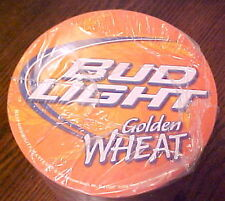 NEW SEALED PACKAGE 100 BUDWEISER BUD LIGHT GOLDEN WHEAT BEER COASTERS EXCEL COND