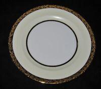Hutschenreuther - White Center, Ivory Border, Gold Floral Trim,  Bread Plate
