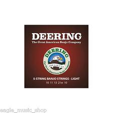 Deering Banjo Strings Light Gauge 'Loop Ended' 5-String Banjo