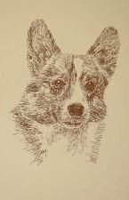 Pembroke Welsh Corgi Dog Breed Art Print #49 Kline will add dogs name free. Gift