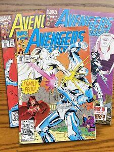 West Coast Avengers #89 - #91.  White Vision vs Ultron.
