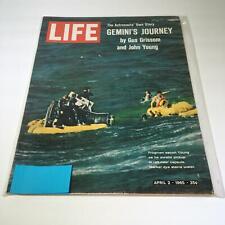 Life Magazine:4/2/65 Frogmen Escort Young As He Awaits Pickup In Raft Near Cap