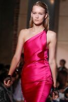 Roland Mouret Pink One shoulder Satin Araila Dress uk 10-12