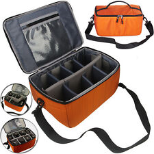 Insert Padded Parition Lens Bag Cas Large Orange DSLR SLR Photo  Dividers  New