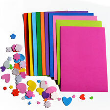 New Funky Foam Sheet Craft EVA With Glue Adhesive A4 (20x30cm) 10 Colours