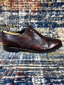 Florsheim Burgundy Leather Wingtip Oxford Shoes 30300 Mens Sz 9.5 E Wide