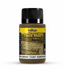 Vallejo Weathering Effects European Thick Mud 73.807 - Acrylic Paint 40ml