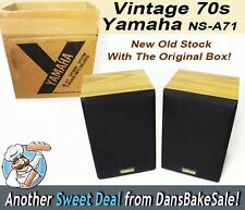 Yamaha NS-A71 Vintage 70's Speakers Pair New Old Stock with Original Box - MINT!
