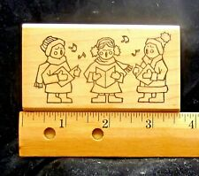 Christmas Carolers Rubber Stamp- Carols- Christmas- Music- Cardmaking- Stamping