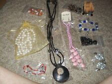 Lot of jewelry making supplies bracelets earrings necklaces beads