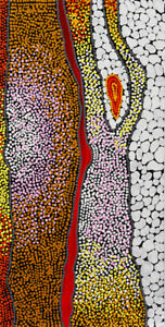 HUGE 190cm by 95cm Dot Painting, Original Abstract Contemporary Aboriginal style