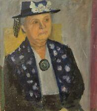 » Porträt - Dame mit Hut « monogr. S.S ! 75x65 cm